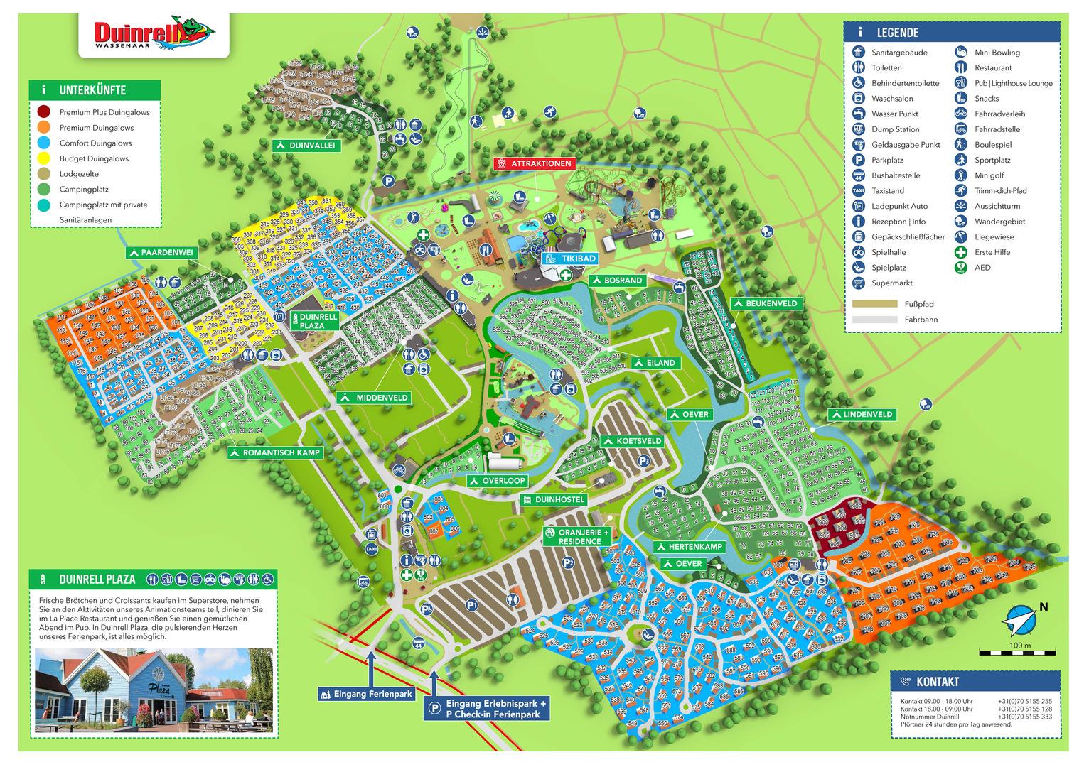 Lageplan Ferienpark Duinrell